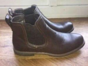Mens brown formal boot size 12