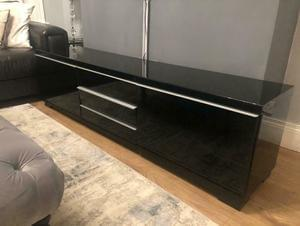 TV Bench, High Gloss Black