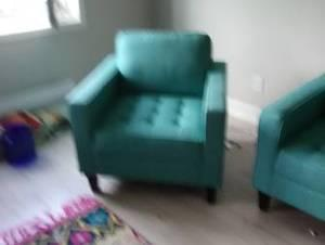 Turquoise Couch & Chair